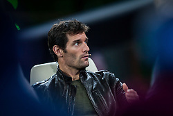 "14.05.2012, Hangar 7, Salzburg, AUT, Sport und Talk, Live aus dem Hangar 7, im Bild Mark Webber (AUS, Red Bull Racing) // during the Servus TV show ""Sport and Talk live at the Hangar 7, Salzburg, Austria on 2012/05/14, EXPA Pictures © 2012, PhotoCredit: EXPA/ Juergen Feichter"