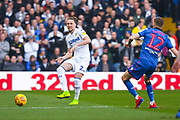 Luke Ayling of Leeds United (2) passes the ball during the EFL Sky Bet Championship match between Leeds United and Bolton Wanderers at Elland Road, Leeds, England on 23 February 2019.