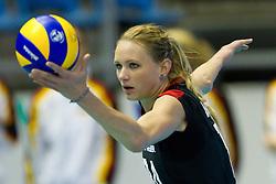 24.09.2011, Hala Pionir, Belgrad, SRB, Europameisterschaft Volleyball Frauen, Vorrunde Pool A, Deutschland (GER) vs. Ukraine (UKR), im Bild Margareta Kozuch (#14 GER / Sopot POL) // during the 2011 CEV European Championship, First round at Hala Pionir, Belgrade, SRB, 2011-09-24. EXPA Pictures © 2011, PhotoCredit: EXPA/ nph/  Kurth       ****** out of GER / CRO  / BEL ******