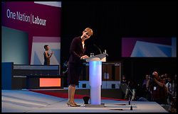 Shadow Home Secretary and Shadow Minister for Women and Equality Yvette Cooper addressing The Labour Conference on Day one of the  Party Conference at the Brighton Conference Centre, Brighton, United Kingdom. Sunday, 22nd September 2013. Picture by Andrew Parsons / i-Images