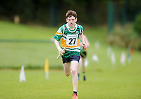 13 Aug 2016: Luke Duffy, from Tullamore, Offaly, heads for the line in the U12 Mixed Distance relay.  2016 Community Games National Festival 2016.  Athlone Institute of Technology, Athlone, Co. Westmeath. Picture: Caroline Quinn