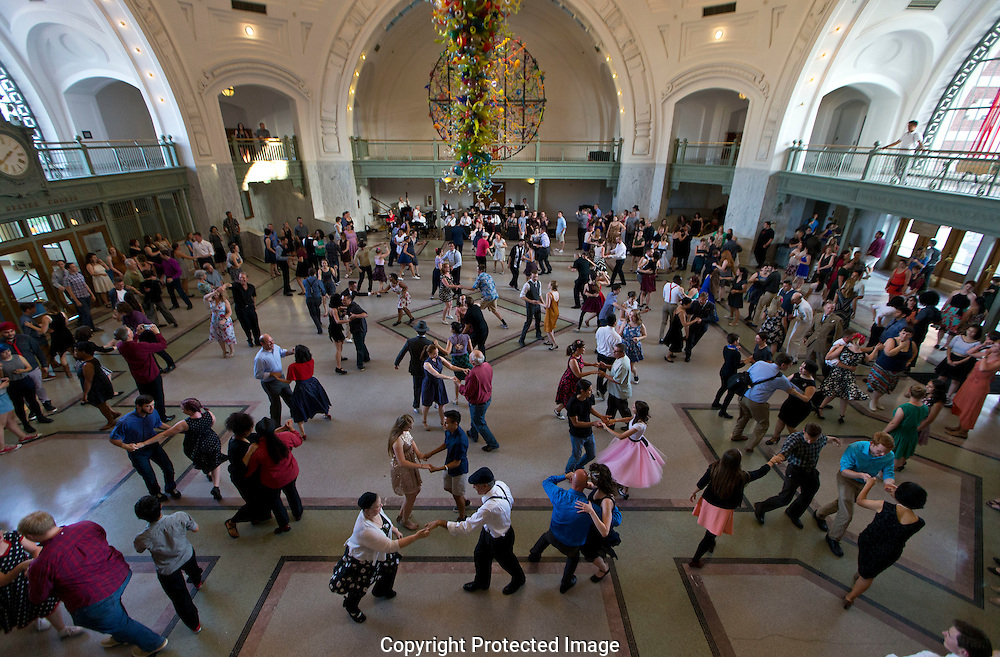 Swing Dance at the Union Station in Tacoma, WA, Saturday, July 30, 2016. (Photo/John Froschauer)