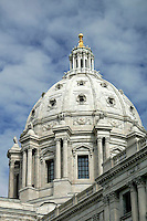 Dome of the Minnesota State Capitol Building, Saint Paul, Minnesota