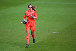 BIRKENHEAD, ENGLAND - Sunday, April 29, 2018: Everton's goalkeeper Kirstie Levell during the FA Women's Super League 1 match between Liverpool FC Ladies and Everton FC Ladies at Prenton Park. (Pic by David Rawcliffe/Propaganda)