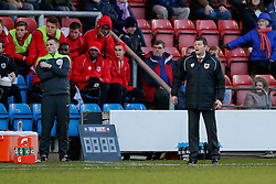 Bristol City Manager Steve Cotterill looks on - Photo mandatory by-line: Rogan Thomson/JMP - 07966 386802 - 20/12/2014 - SPORT - FOOTBALL - Crewe, England - Alexandra Stadium - Crewe Alexandra v Bristol City - Sky Bet League 1.