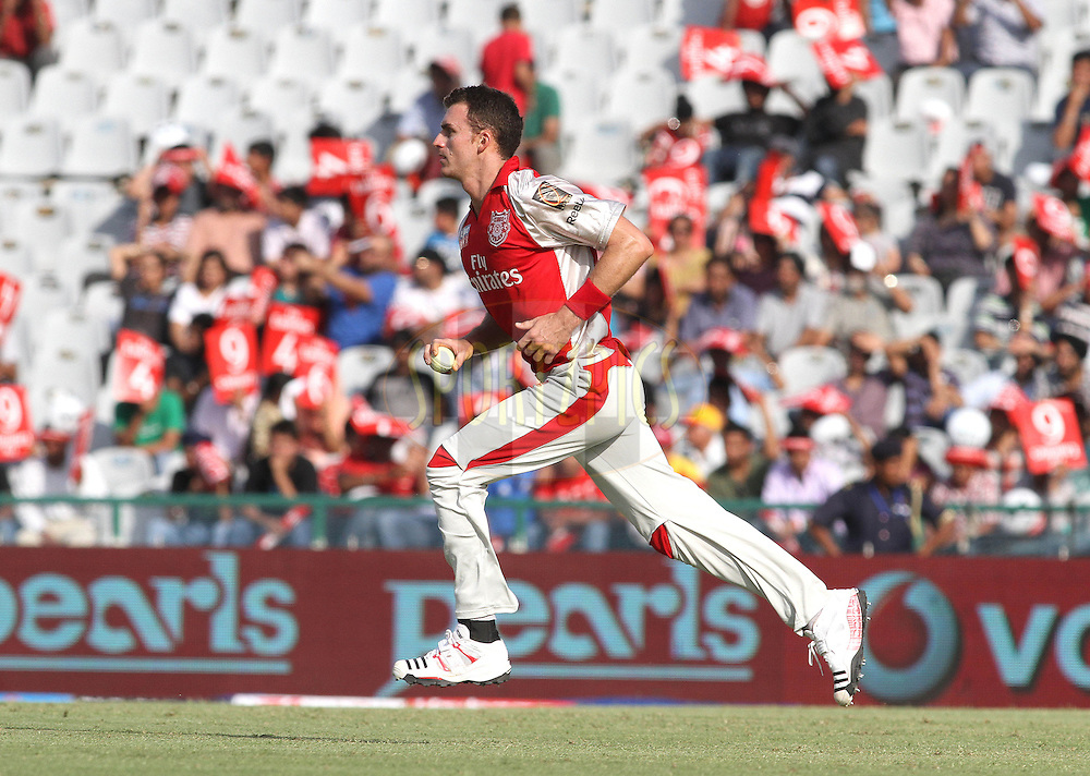 Ryan Mclaren of the Kings XI Punjab runs in to bowl during match 9 of the Indian Premier League ( IPL ) Season 4 between the Kings XI Punjab and the Chennai Super Kings held at the PCA stadium in Mohali, Chandigarh, India on the 13th April 2011..Photo by Shaun Roy/BCCI/SPORTZPICS