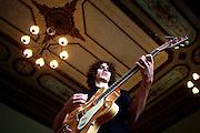 Belo Horizonte_MG, Brasil...Retrato do musico Ian Guedes na Casa do Conde de Santa Marinha. ..Portrait of Ian Guedes musician in Casa do Conde de Santa Marinha...Foto: LEO DRUMOND / NITRO.