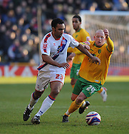 London - Friday, December 26th, 2008: Paul Ifill of Crystal Palace and Matt Pattison of Norwich City during the Coca Cola Championship match at Selhurst Park, London. (Pic by Alex Broadway/Focus Images)