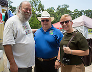 Abita Springs Farmers Market organizer Mike Norman with Louisiana Agriculture Commissioner Mike Strain and Elizabeth Atwell, Programs Associate with Wholesome Wave; August 7, 2016