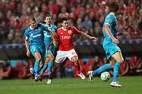 20120306: LISBON, PORTUGAL - Champions League 2011/2012 - 2st leg: SL Benfica vs Zenit FC.<br /> In picture: Benfica's midfielder Nicolas Gaitan tries to escape Zenit's defender Aleksandr Anyukov.<br /> PHOTO: Carlos Rodrigues/CITYFILES