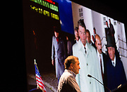 Pete Souza talks about his time as Ronald Reagan's presidential photographer during his Kennedy Lecture on September 19, 2017.