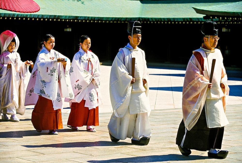Procession of Shinto Wedding Ceremony, Meiji-Jingu Shrine, Tokyo, Japan