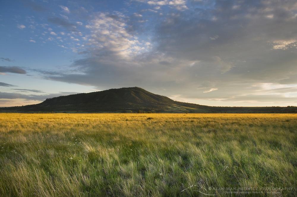 Prairie sunset near the Little Rocky Mountains Montana