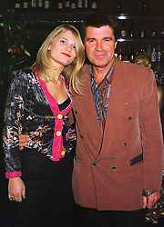 MISS ARABELLA ZAMOYSKA and actor OLIVER TOBIAS, at a party in London on 4th November 1998.MLO 45
