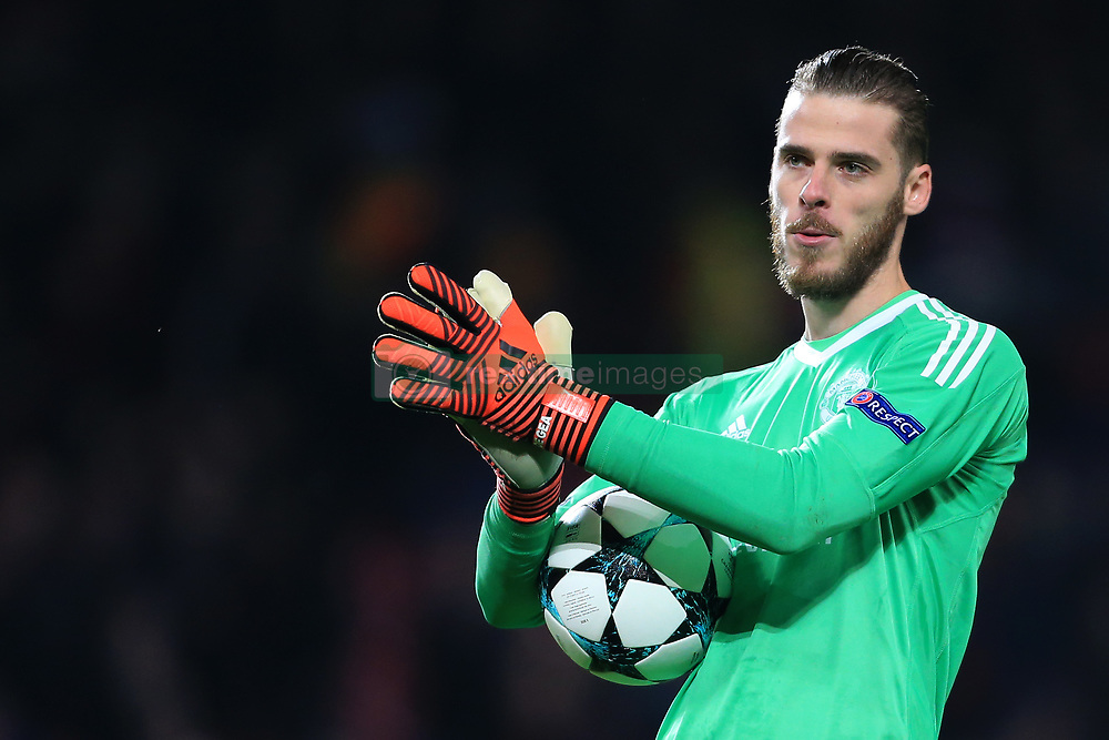 31st October 2017 - UEFA Champions League - Group A - Manchester United v SL Benfica - Man Utd goalkeeper David De Gea - Photo: Simon Stacpoole / Offside.
