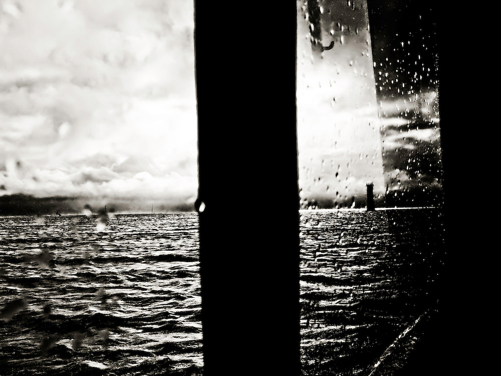 Pass A Loutre Lighthouse, as seen from workboat bound for Pass A Loutre Island, LA.  Copyright 2011 Reid McNally.