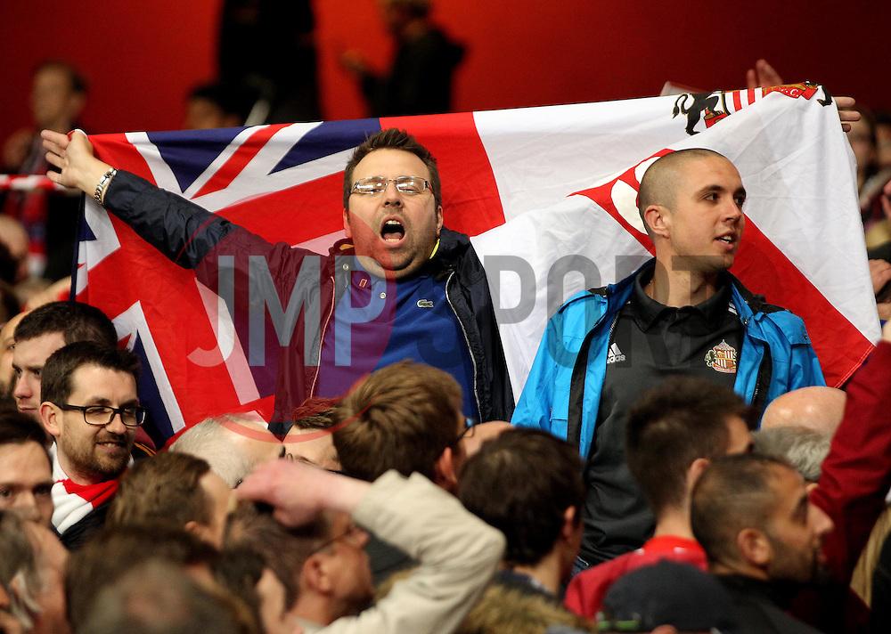Sunderland fans - Photo mandatory by-line: Robbie Stephenson/JMP - Mobile: 07966 386802 - 20/05/2015 - SPORT - Football - London - Emirates Stadium - Arsenal v Sunderland - Barclays Premier League