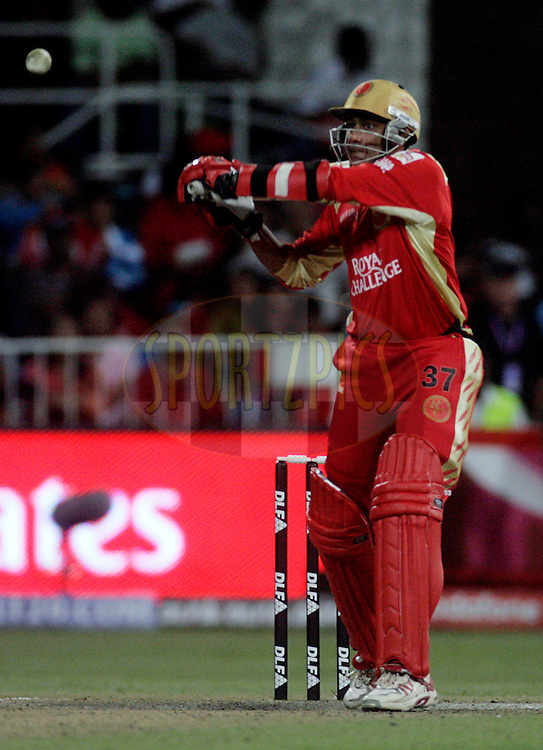 DURBAN, SOUTH AFRICA - 1 May 2009. Anil Kimble plays a shot during the IPL Season 2 match between Kings X1 Punjab and the Royal Challengers Bangalore held at Sahara Stadium Kingsmead, Durban, South Africa..