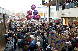 © under license to London News Pictures. 30/11/2010 Students storm the Cabot Circus shopping centre in Bristol. Demonstrations all over the UK are taking place to protest against proposed increases to higher education fees. Credit should read: David Hedges/LNP