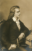 'Johann Christoph Friedrich Schiller (1759-1805) German poet, playwright, philosopher and historian. Sturm  und Drang.'