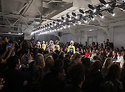 Fashion designers Danielle Salinas and Shriya Bisht present their Maison de Papillon show at Nolcha Fashion Week New York Fall-Winter 2014. Nolcha Fashion Week New York is a leading award winning event, held during New York Fashion Week, for independent fashion designers to showcase their collections to a global audience of press, retailers, stylists and industry influencers. Over the past six years Nolcha Fashion Week: New York has established itself as a platform of discovery promoting innovative fashion designers through runway shows and exhibition. Nolcha Fashion Week: New York has built an acclaimed reputation as a hot incubator of new fashion design talent and is officially listed by New York City Economic Development Corporation; offering a range of cost effective options to increase designers recognition and develop their business. (Photo: www.JeffreyHolmes.com)