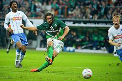 15.01.2011, Weser Stadion, Bremen, GER, 1.FBL, Werder Bremen vs 1899 Hoffenheim im Bild 1:0 durch Claudio Pizarro ( Werder #24 )    EXPA Pictures © 2011, PhotoCredit: EXPA/ nph/  Kokenge       ****** out of GER / SWE / CRO ******