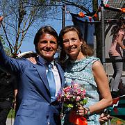 NLD/Veenendaal/20120430 - Koninginnedag 2012 Veenendaal, Maurits en partner Marilene van den Broek