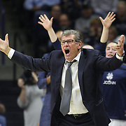 STORRS, CONNECTICUT- NOVEMBER 17: UConn Head coach Geno Auriemma reacts on the sideline during the UConn Huskies Vs Baylor Bears NCAA Women's Basketball game at Gampel Pavilion, on November 17th, 2016 in Storrs, Connecticut. (Photo by Tim Clayton/Corbis via Getty Images)