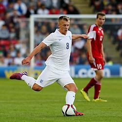 James Ward-Prowse of England in action - Photo mandatory by-line: Matt McNulty/JMP - Mobile: 07966 386802 - 11/06/2015 - SPORT - Football - Barnsley - Oakwell Stadium - England U21 v Belarus U21 - International Friendly U21s