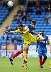 Ryan Tafazolli of Peterborough United beats Agon Mehmeti of Oxford United in air - Mandatory by-line: Joe Dent/JMP - 30/09/2017 - FOOTBALL - ABAX Stadium - Peterborough, England - Peterborough United v Oxford United - Sky Bet League One