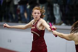 4x400 relay, BC, McKenna<br /> BU Terrier Indoor track meet