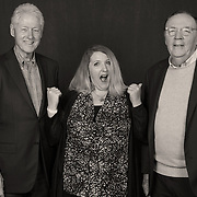 Bill Clinton and 'The President is Missing' author James Patterson (with guest) during their Vancouver appearance.
