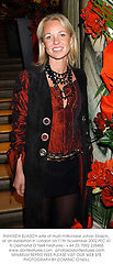 AMANDA ELIASCH wife of multi-millionaire Johan Eliasch, at an exhibition in London on 11th November 2002.	PFC 41