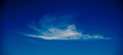 White cloud on deep blue sky in Poland photo Piotr Gesicki