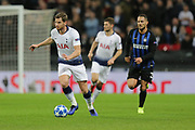 Tottenham Hotspur defender Jan Vertonghen (5) runs with the ball during the Champions League group stage match between Tottenham Hotspur and Inter Milan at Wembley Stadium, London, England on 28 November 2018.