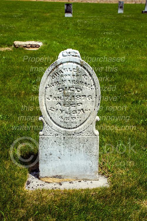 Hittle Grove Cemetery near Armington in Tazwell County.<br /> <br /> Charles A Marshall