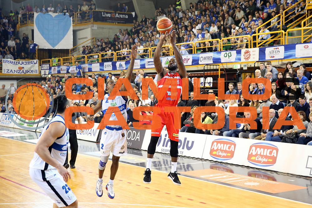Dominique Johnson<br /> Germani Basket Brescia vs Openjobmetis Varese<br /> Lega Basket Serie A 2016/2017<br /> Citt&agrave; 19/03/2017<br /> Foto Ciamillo-Castoria/A.Gilardi