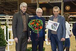 Cicero Van Paemel, Luc Van Eeckhoudt<br /> Huldiging BWP ambassadeurs<br /> BWP Hengsten keuring Koningshooikt 2015<br /> © Hippo Foto - Dirk Caremans<br /> 22/01/16