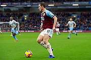 Burnley forward Chris Wood (11) during the Premier League match between Burnley and West Ham United at Turf Moor, Burnley, England on 30 December 2018.