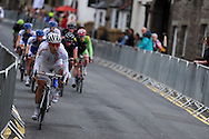 cycle race, Abergavenny cycling festival 2012, cyclists race through the centre of Abergavenny in South Wales on 13th July 2012. pic by Andrew Orchard