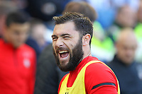 Football - 2018 / 2019 Premier League - Brighton and Hove Albion vs. Southampton<br /> <br /> Southampton's Charlie Austin enjoys a laugh before kick off at The Amex Stadium Brighton <br /> <br /> COLORSPORT/SHAUN BOGGUST