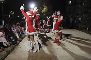 Pine Bush, NY -Members of the Justine Arlotta Dance Ensemble perform during the Pine Bush Festival of Lights on Main Street on the evening of Dec. 1, 2007.