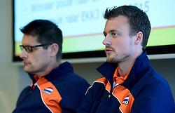 12-05-2014 NED: Persconferentie Nederlands vrouwen en mannen team, Arnhem<br /> Op papendal werden door beide bondcoaches en aanvoerders de plannen voor het nieuwe seizoen gepresenteerd / Jeroen Rauwerdink