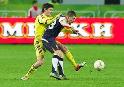 MOSCOW, RUSSIA - Thursday, November 8, 2012: Liverpool's Jon Flanagan in action against FC Anji Makhachkala during the UEFA Europa League Group A match at the Lokomotiv Stadium. (Pic by David Rawcliffe/Propaganda)
