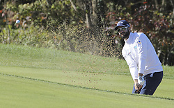 October 20, 2018 - Jeju, SOUTH KOREA - Oct 20, 2018-Jeju, South Korea-ADAM HADWIN of Canada action on the 3th bunker during the PGA Golf CJ Cup Nine Bridges Round 3 at Nine Bridges Golf Club in Jeju, South Korea. (Credit Image: © Ryu Seung-Il/ZUMA Wire)