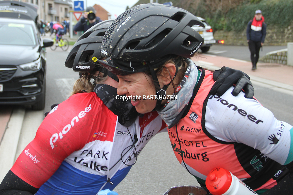 01-03-2020: Wielrennen: Hageland vrouwen: Tielt-Winge: Lorena Wiebes: Romy Kasper