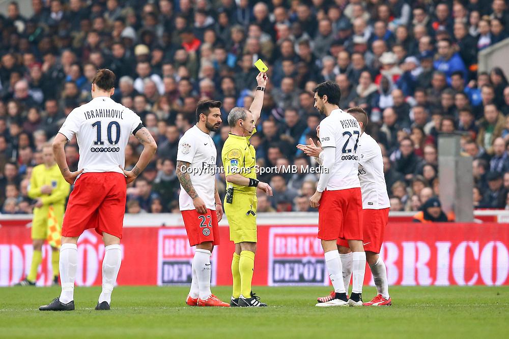 Arbitre Lionel Jaffredo / Javier PASTORE  - 15.03.2015 - Bordeaux / Paris Saint Germain - 29e journee Ligue 1<br />Photo : Manuel Blondeau / Icon Sport