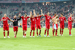 27.09.2011, Allianz Arena, Muenchen, GER, UEFA CL, FC Bayern Muenchen vs Manchester City, im Bild Die Bayern feiern mit Ihren Fans // during the CL match  FC Bayern Muenchen (GER)  vs Manchester City (ENG) Gruppe A, on 2011/09/27, Allianz Arena, Munich, Germany, EXPA Pictures © 2011, PhotoCredit: EXPA/ nph/  Straubmeier       ****** out of GER / CRO  / BEL ******