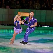 NLD/Hilversum/20110128 - Live show Sterren Dansen op het IJs2011, Danny de Munk schaatst zijn eerste kuhr