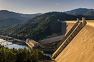 Spillway on Shasta Dam above the Sacramento River, Shasta County, California
